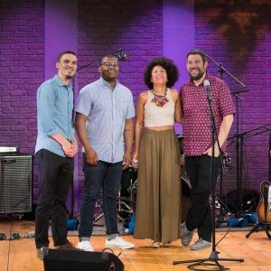 fbf with my brothers taping an episode of The Soundhellip