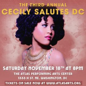 Saturday November 18th at 8PM  The 3rd Annual CecilySalutesDChellip
